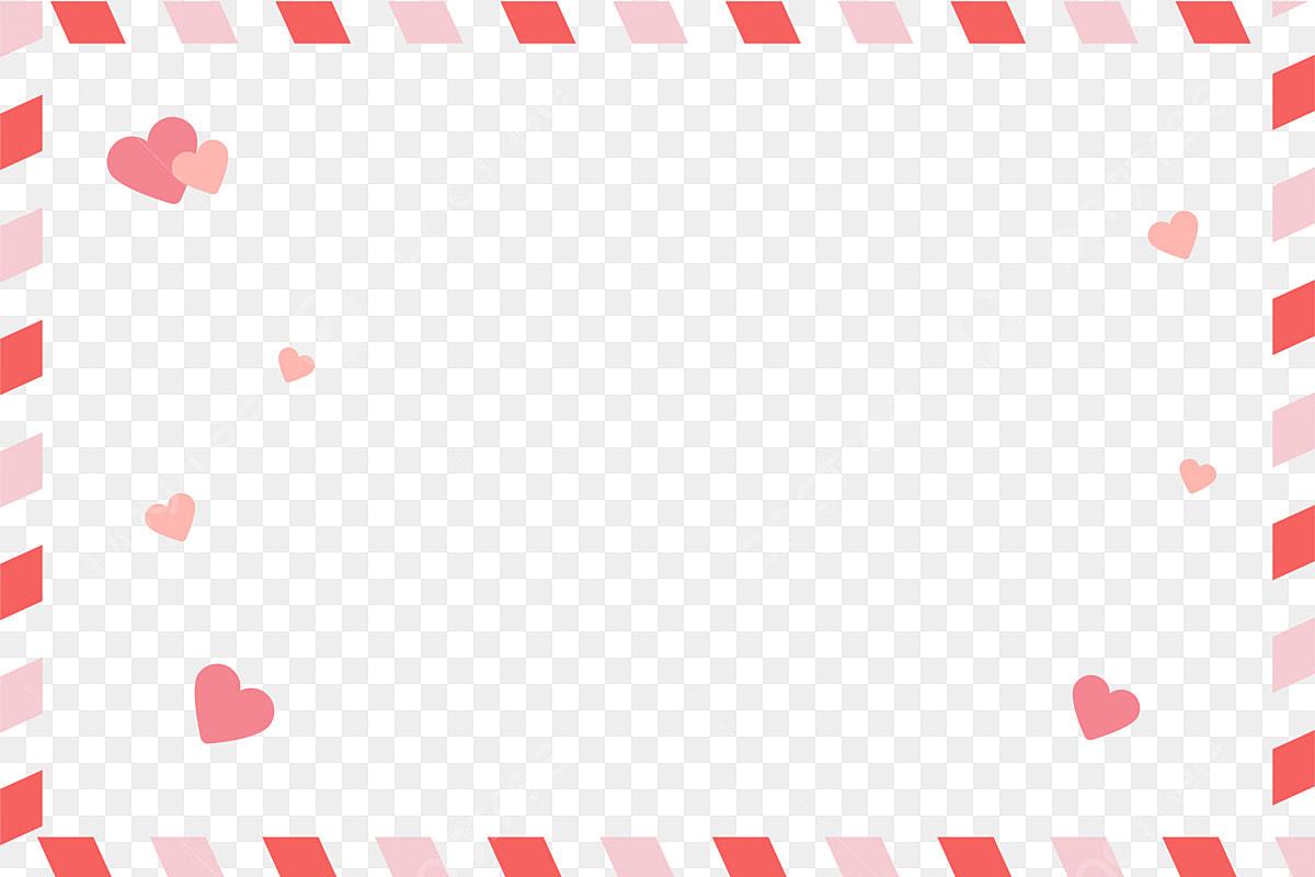 Dia Dos Namorados Tanabata Borda Rosa Fronteira Romântica