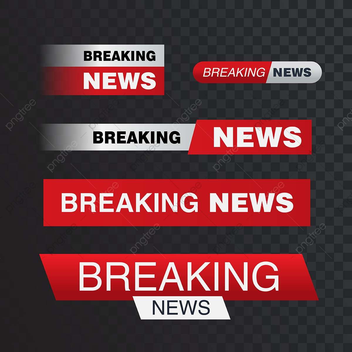 Vector Bars Breaking News Banner News Banner For Streami