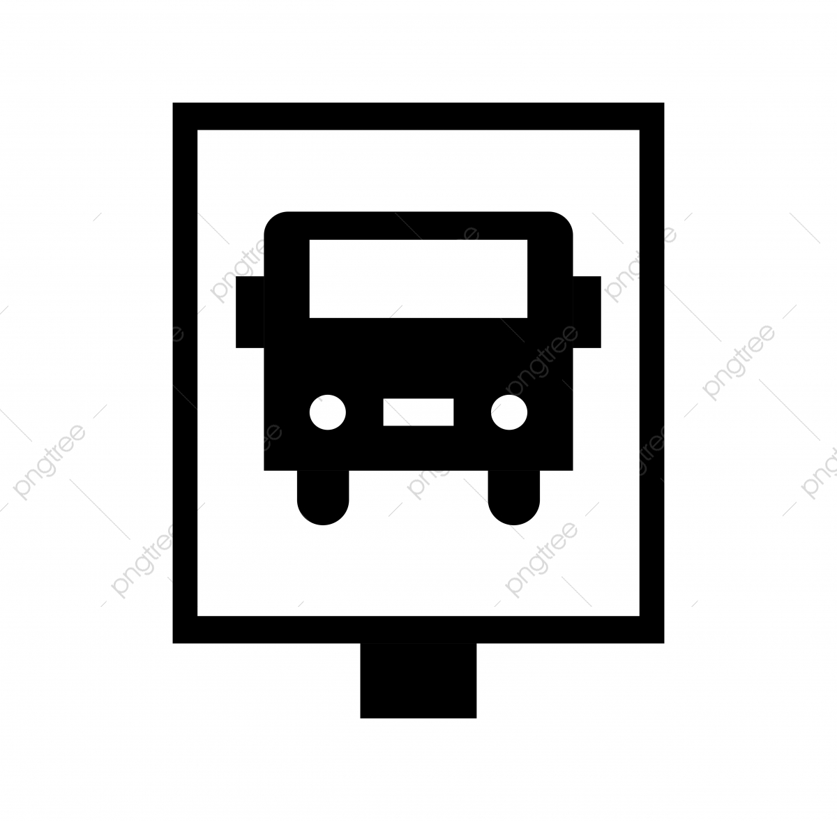 Vector Bus Stop Icon, Bus Stop, Bus Station, Transport PNG