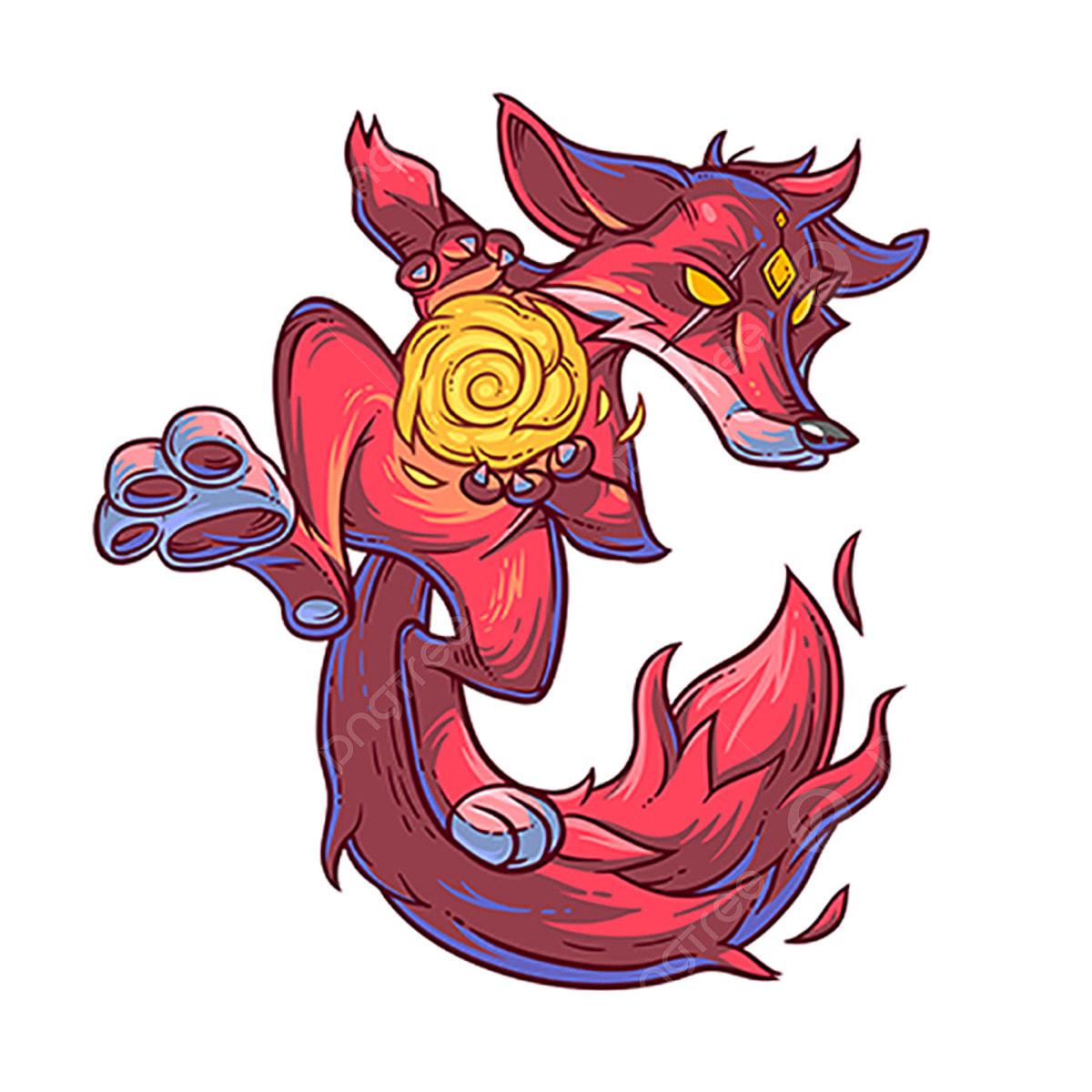 火狐のベクトル実例 ベクトル イラスト かわいいモンスターのアイコン