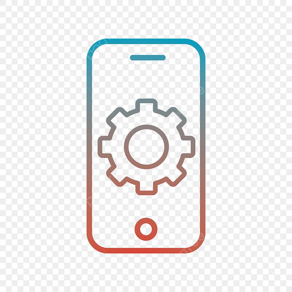 Vector Icono De Aplicacion Movil, App, Cog, Mobile PNG y