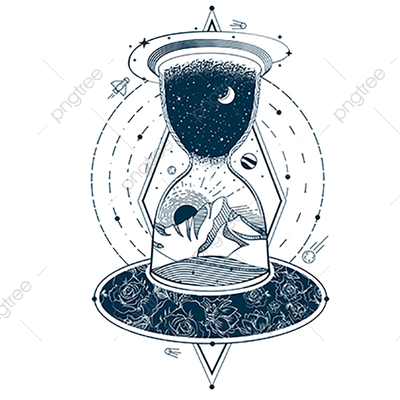 Vector Tattoo With An Hourglass Enclosing The Astrologia Para