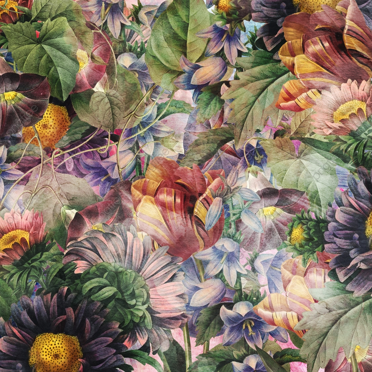Vintage Botanical Garden Background, Nature, Abstract