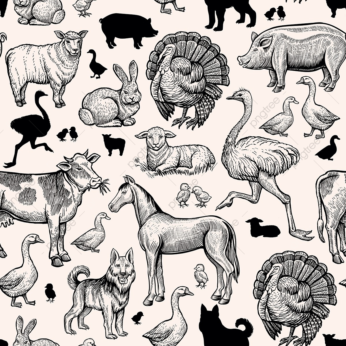 Farm Animals Png Images Vector And Psd Files Free Download On Pngtree