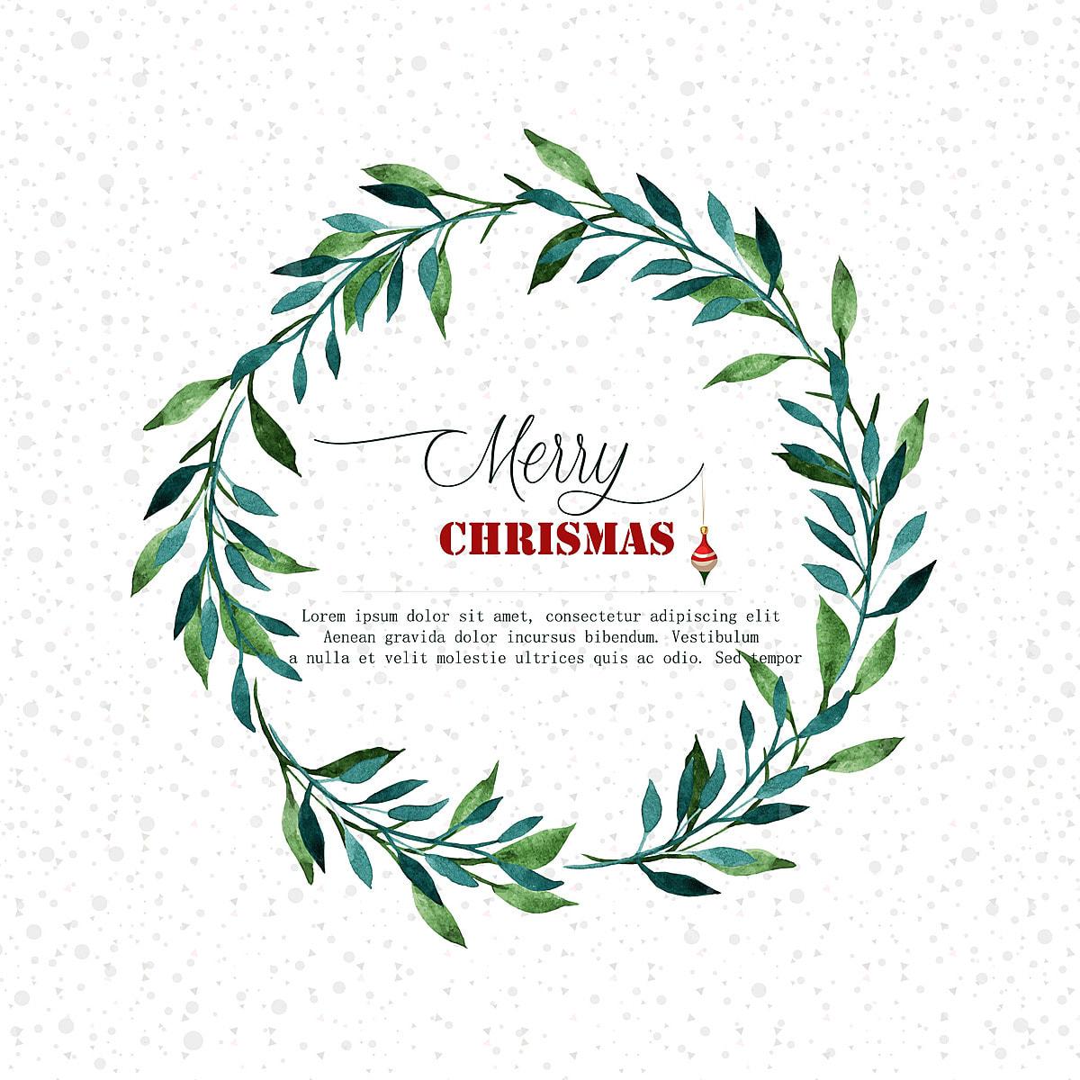 Watercolor Christmas Wreath Png.Watercolor Christmas Wreath Christmas Background