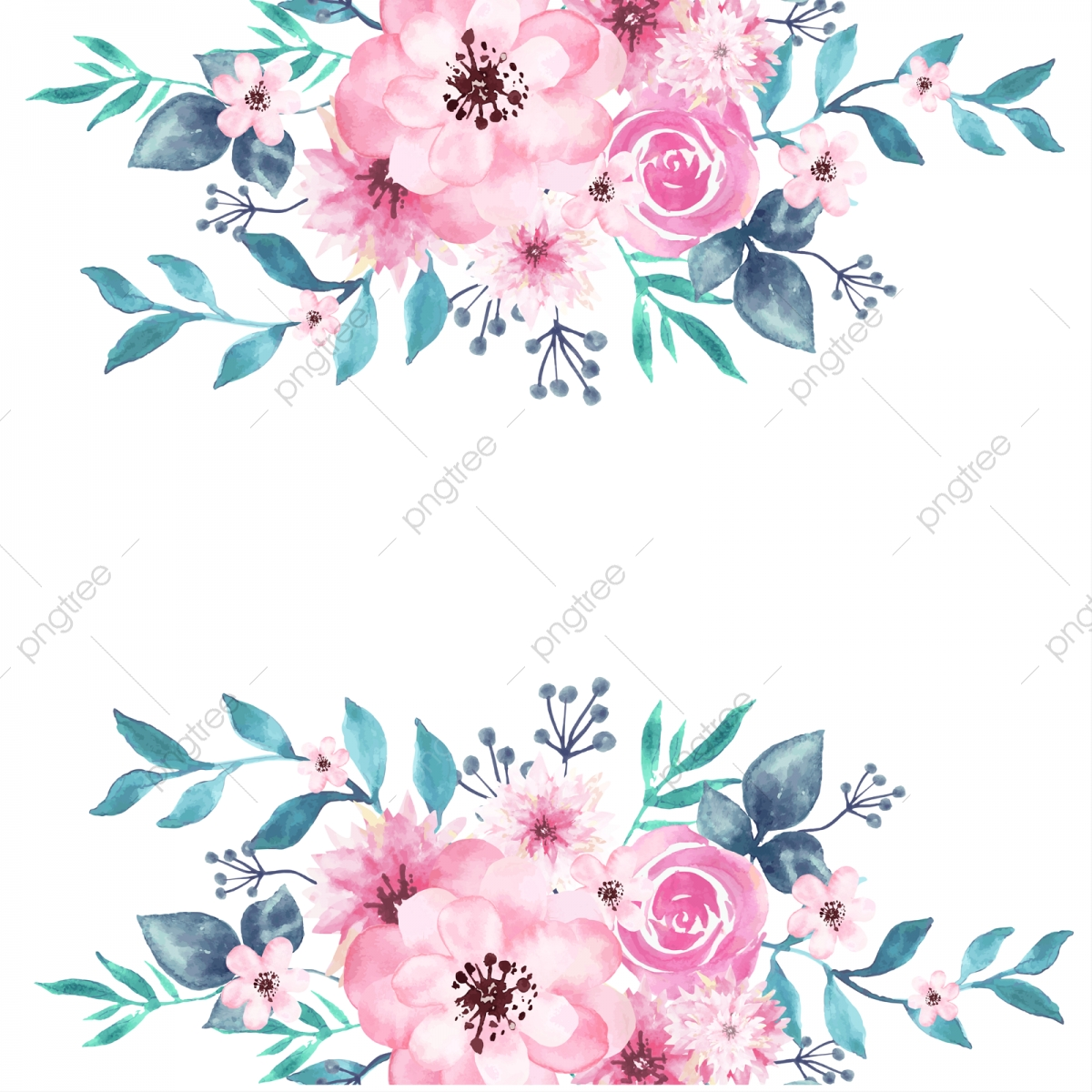 watercolor floral background  peony  spring  transparent png and vector with transparent