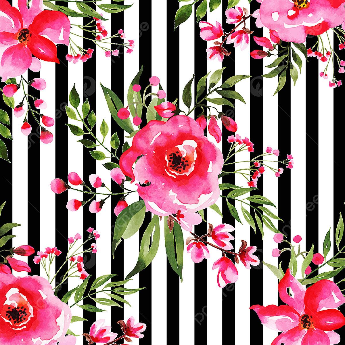 уютный картинки полоски с цветочками корзинка зайцами