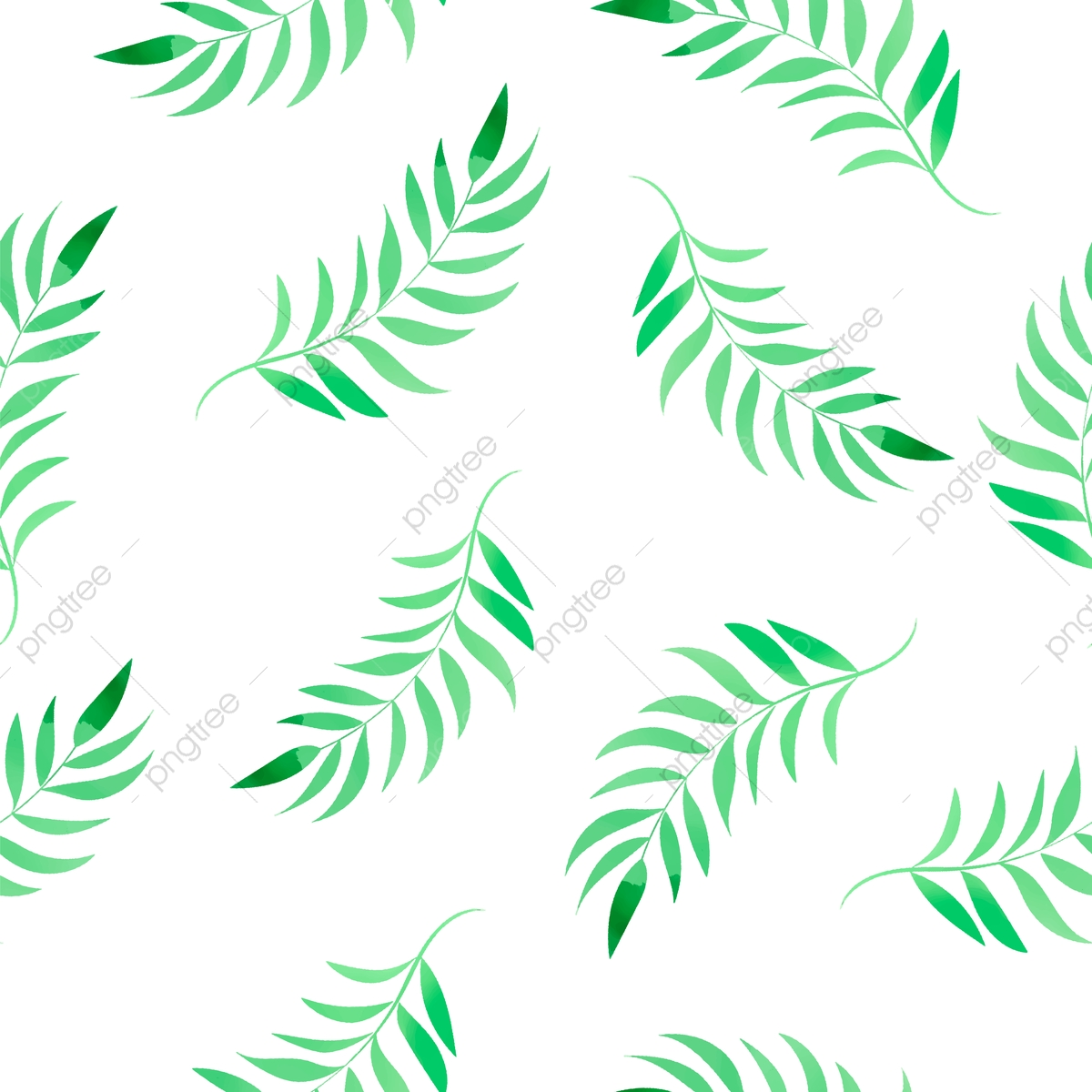 Wohndesign Software: Watercolor Tropical Leaves Floral Color Watercolor