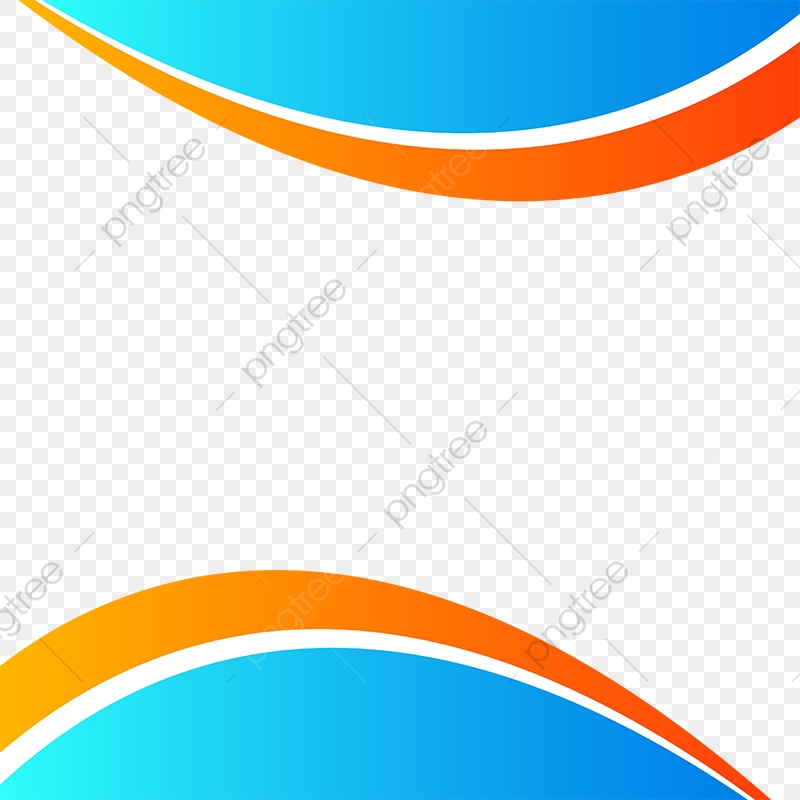 Wave Vector Abstract Background Waves Line Blue Orange