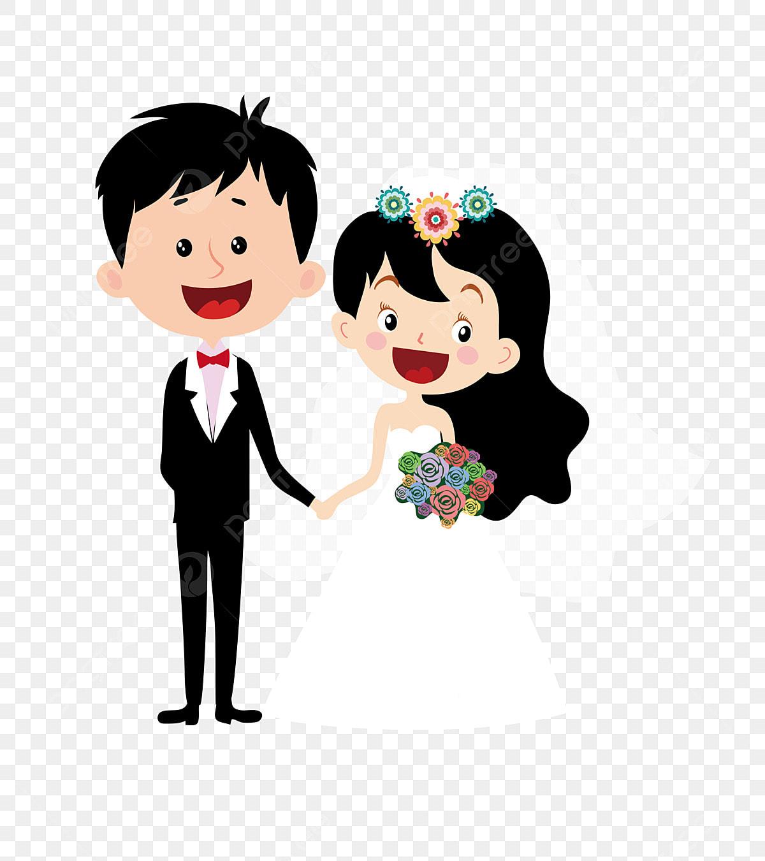 Gambar Kartun Perkahwinan Kartun Pasangan Kartun Watak Kartun Pengantin Perempuan Perayaan Watak Kartun Watak Berkahwin Menziarahi Sebuah Keluarga Png Dan Vektor Untuk Muat Turun Percuma