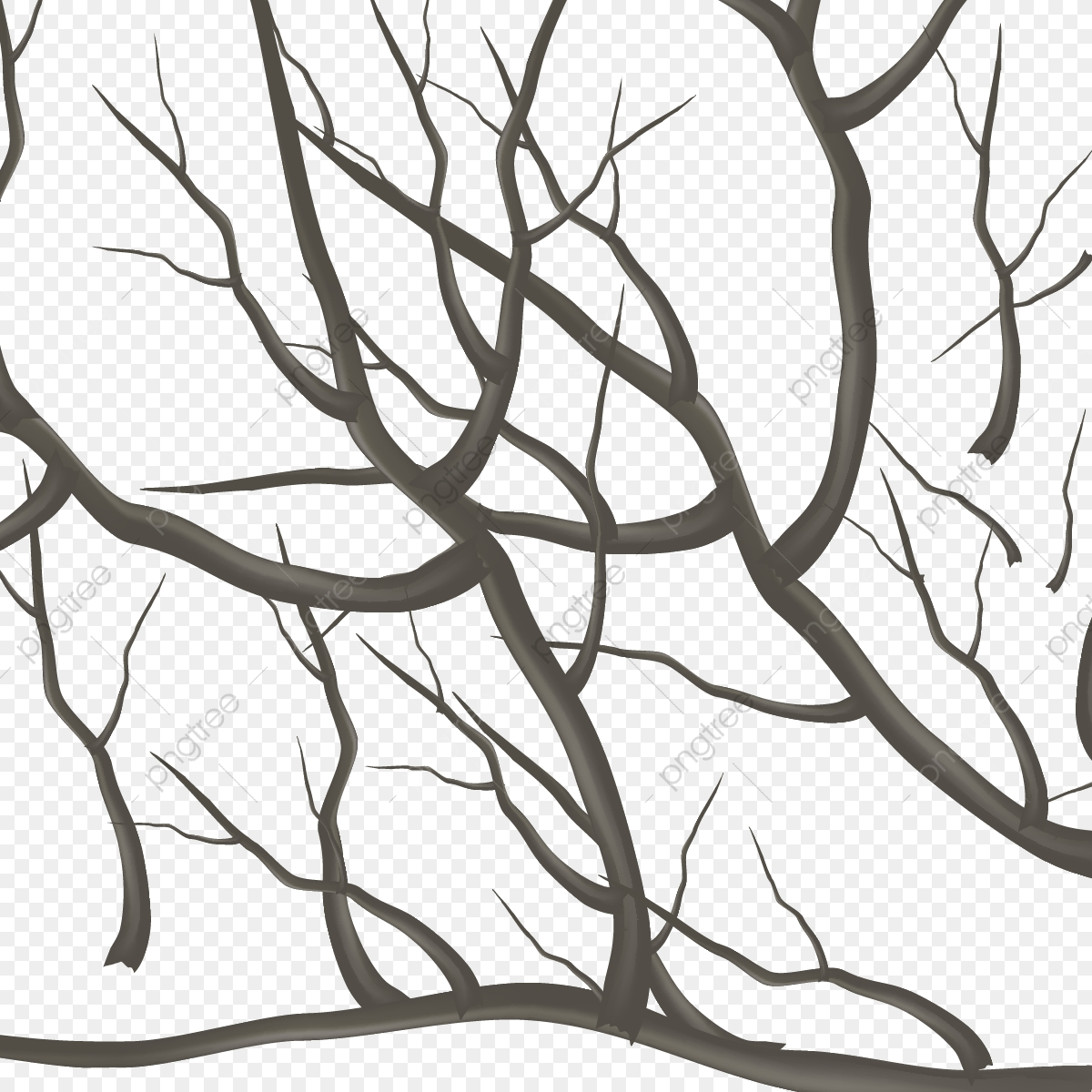 Winter Tree Branches Decoration Branch Clipart Winter Tree Tree Branches Png And Vector With Transparent Background For Free Download