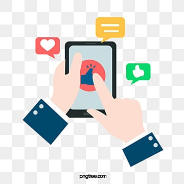 Cartoon Social Hands  Mobile Phones and Flat Elements, Cartoon, Dialog Box, Flat Style PNG and PSD