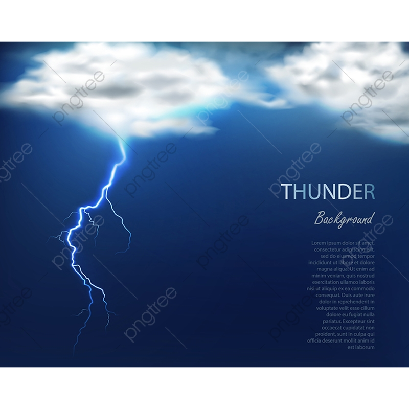 Banner With Clouds And Charge Of Lightning, Cloud, Lightning, Banner