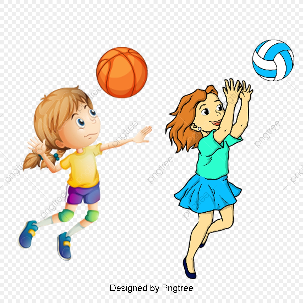 cartoon play activities sports characters playing cool clipart ball throwing psd upgrade file