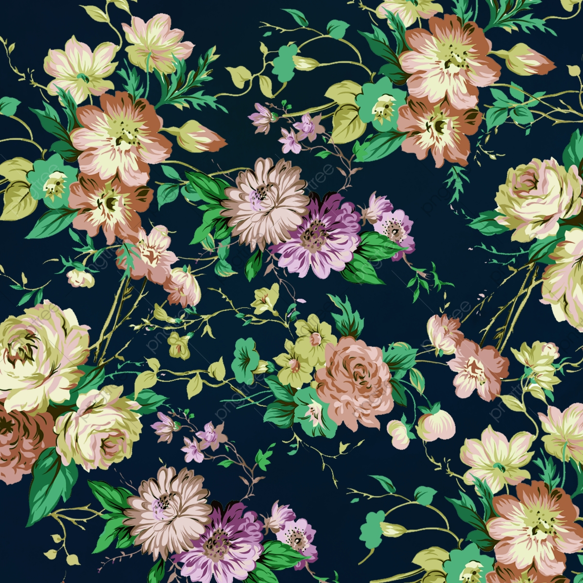 Beautiful Vintage Floral Background Design Floral Floral