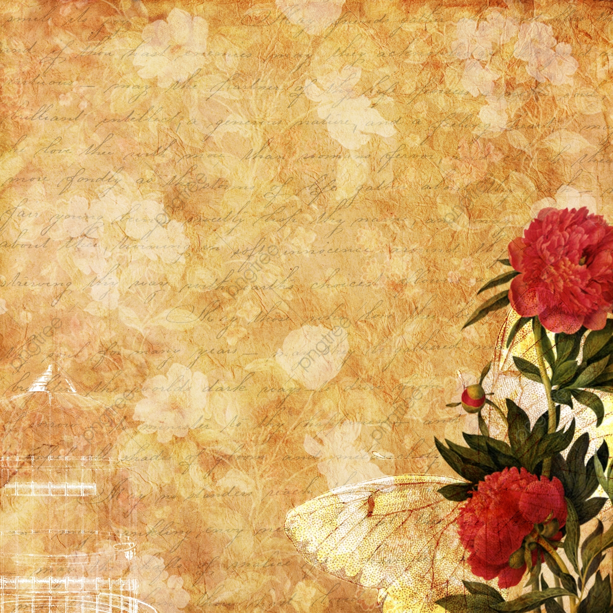 Beautiful Vintage Floral Background Background Vintage Floral
