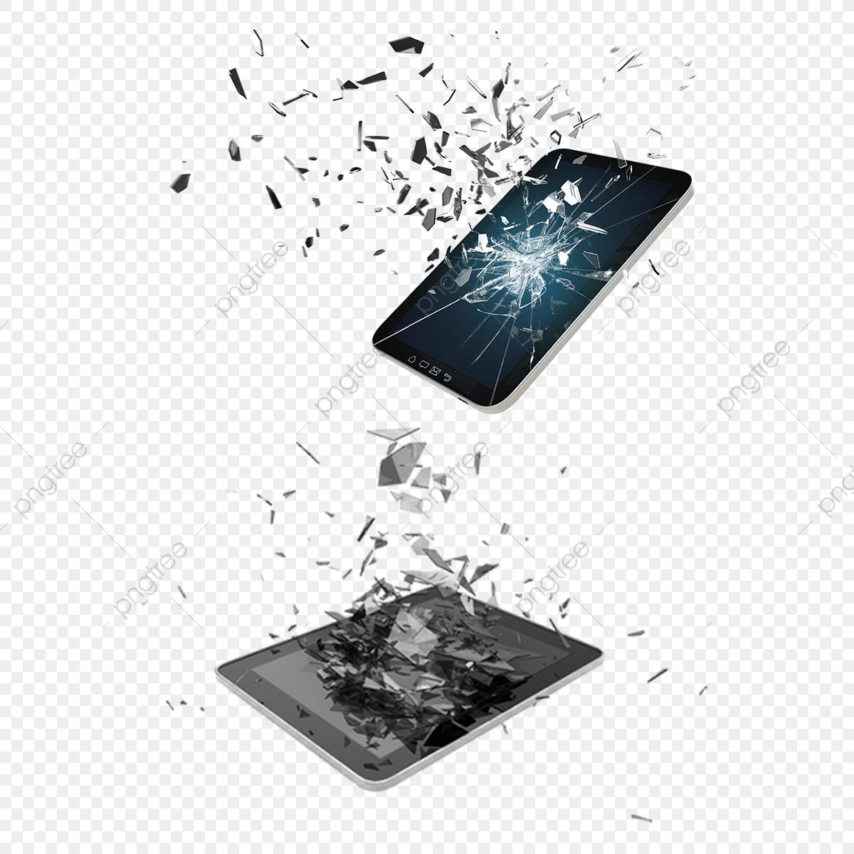 Ipad cracked. Broken mobile phone screen