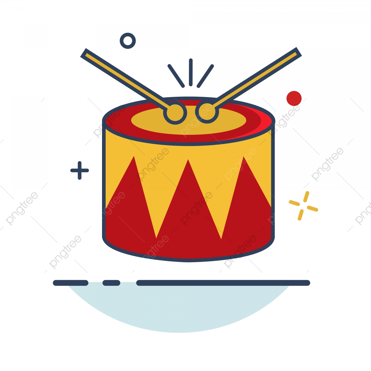 Carnival Icon | Drum Icon With Outline Filled Style