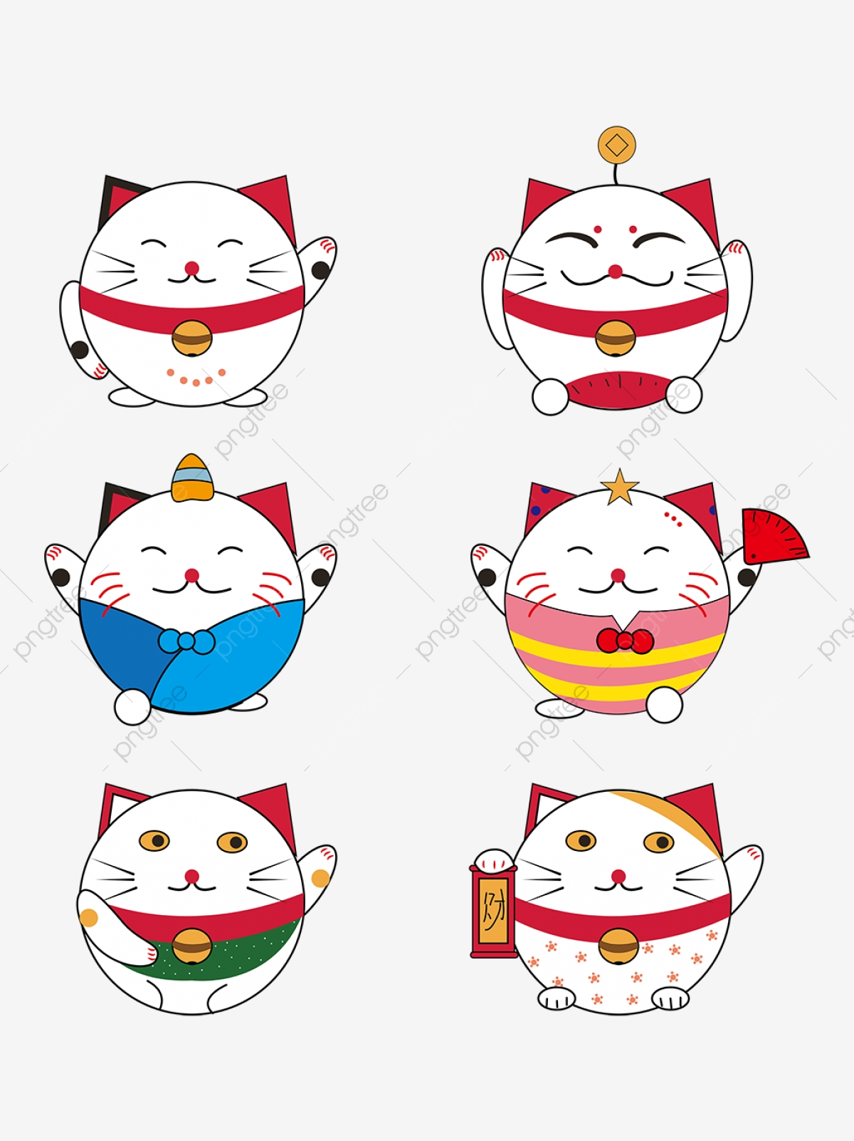 Kartun Kucing Lucu Bertuah Elemen Kucing Bertuah Kitten