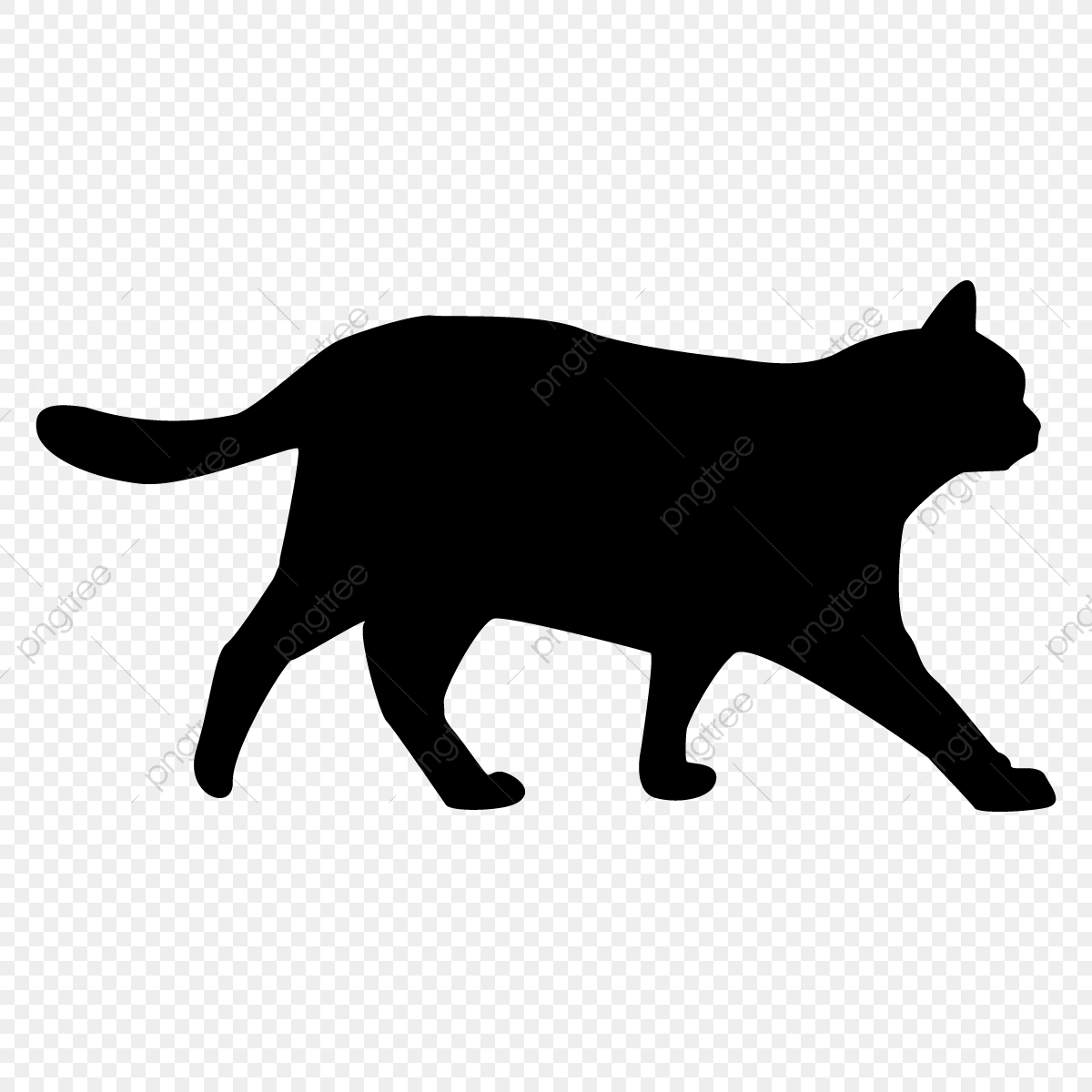 Cat Silhouette PNG Images   Vector and PSD Files   Free Download ...