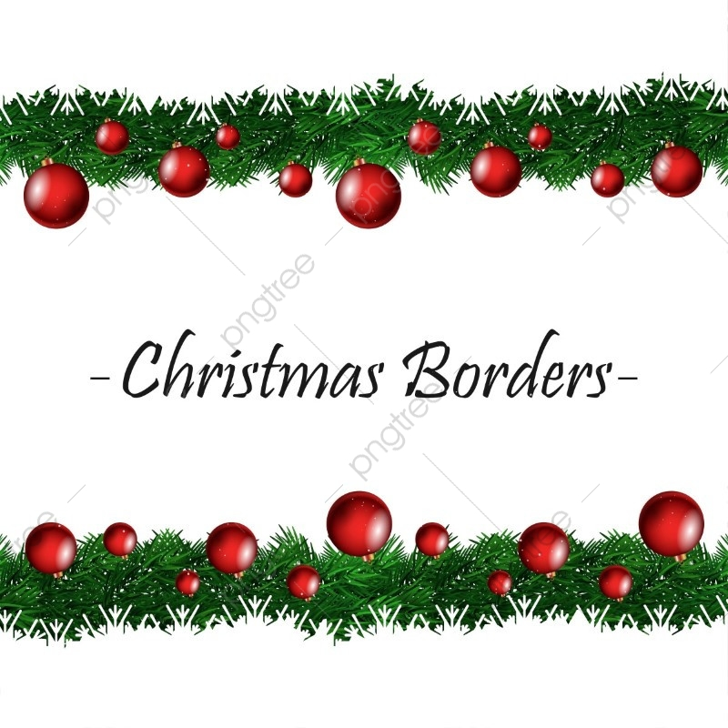 Christmas Border, Christmas Vector, Border Vector, 2018 PNG