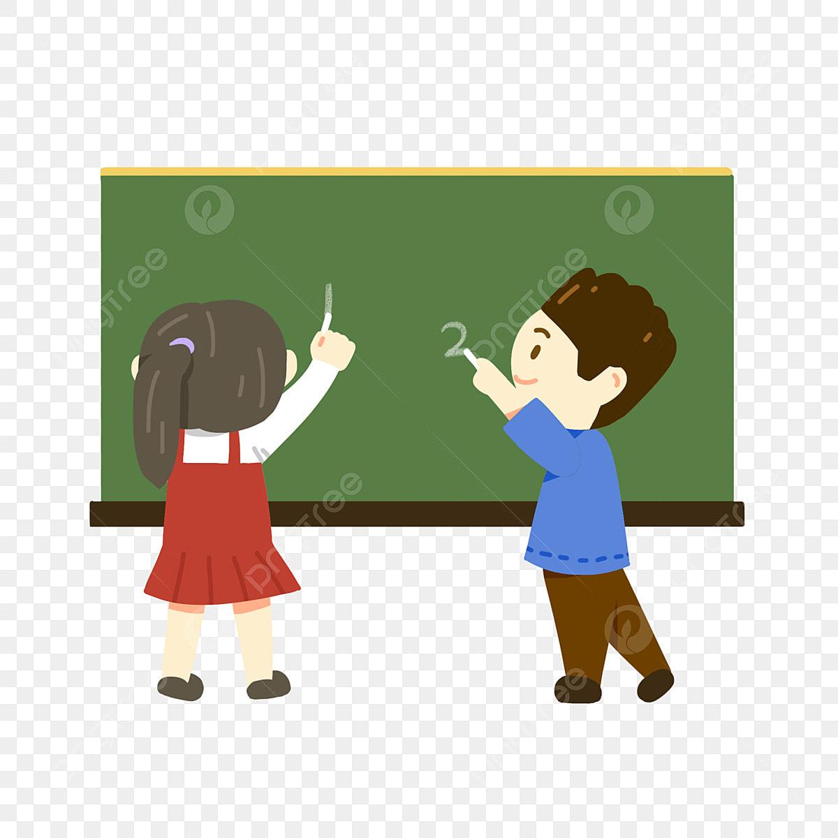 لطيف التلاميذ يذهبون إلى المدارس ودراسة الطلاب العودة من المدرسة التلميذ رسم لطيف لطيف الطفل الكتابة على السبورة طفل لطيف قليلا في القراءة دراسة عربي مشهد Png وملف Psd للتحميل مجانا
