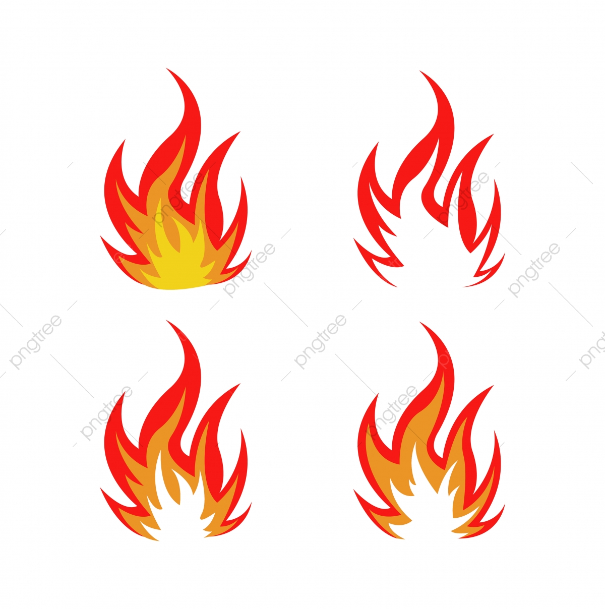 Fire Logo Icon Design Template Vector, Symbol, Fire, Sign PNG and