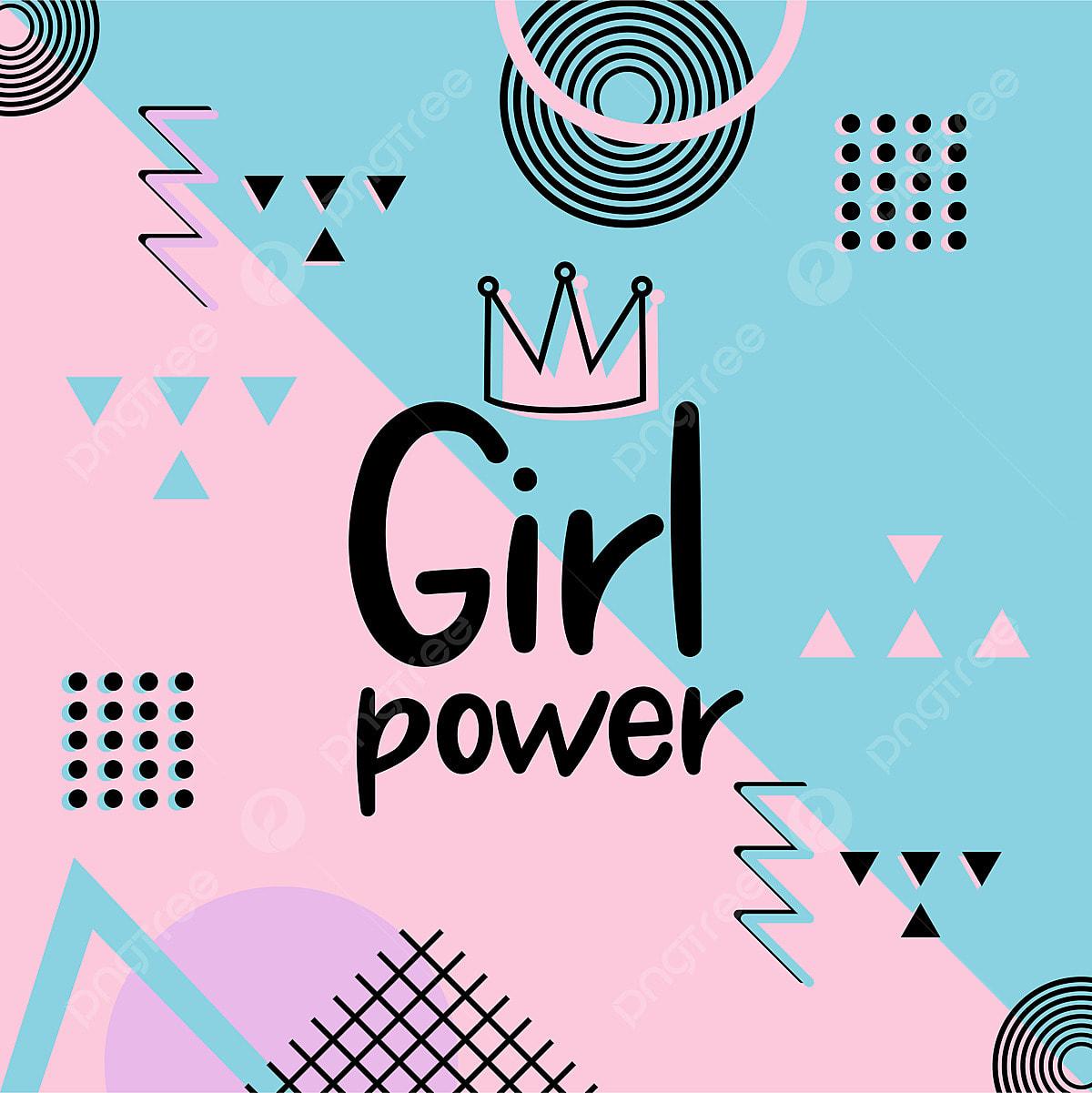 Girl Power T-shirt Design With Feminine Symbol. Vector ... |Geek Power Girl Symbol