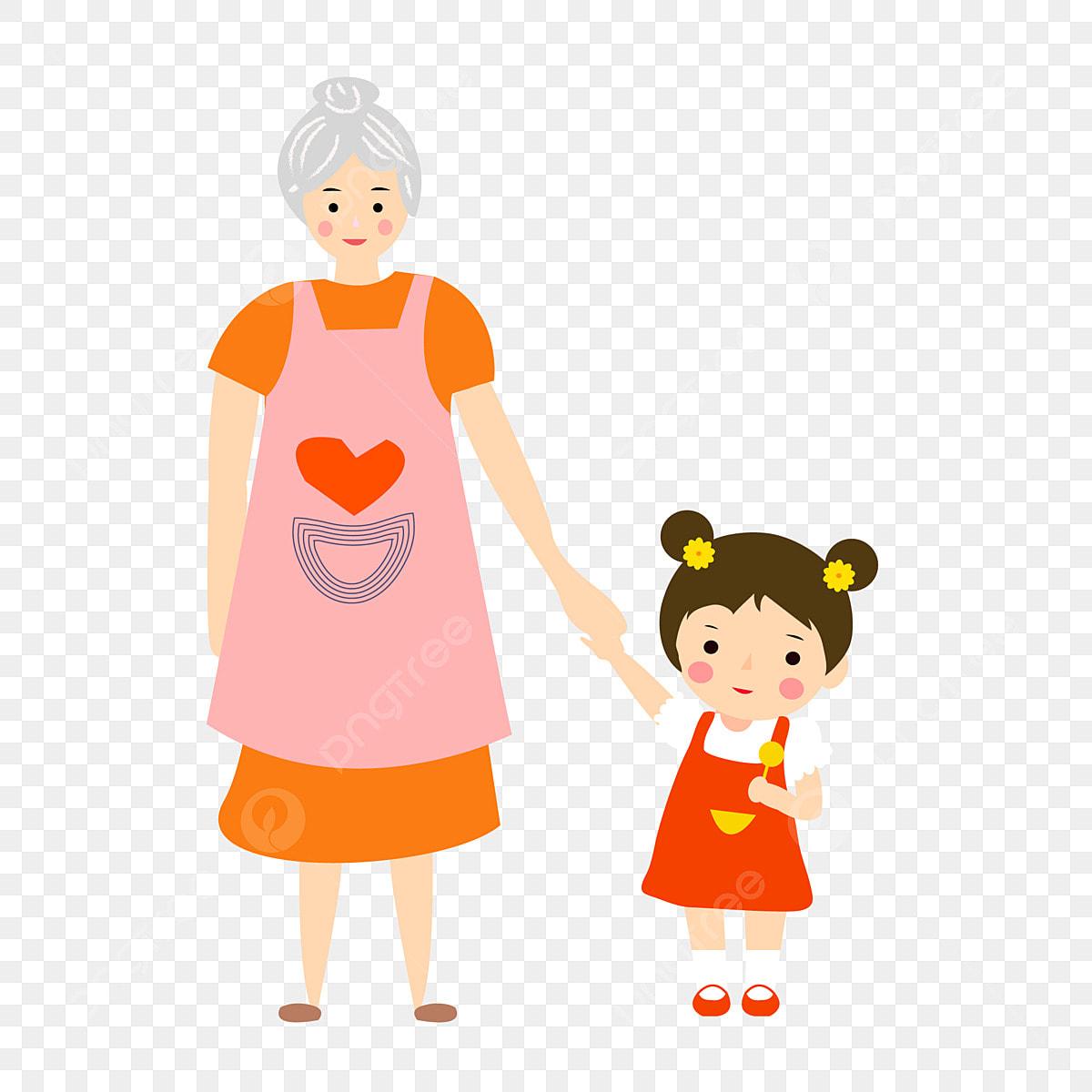 할머니와 손녀 디자인, 만화, 캐릭터, 할머니 PNG 및 벡터 에 대한 무료 다운로드