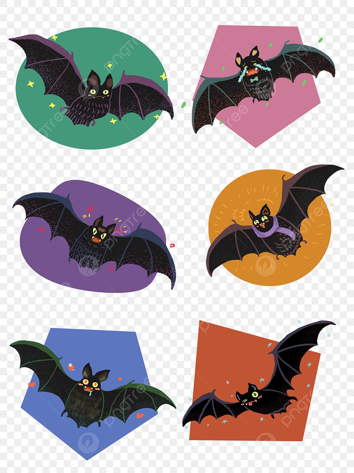 Hand Drawn Cartoon Cute Halloween Bat Commercial Account