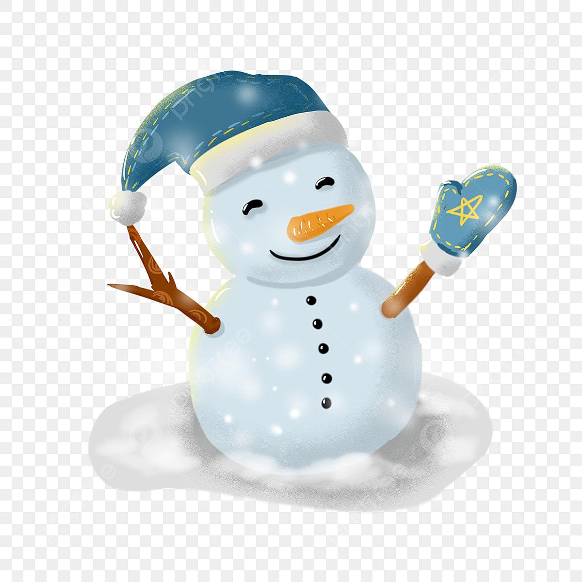 手描きかわいい雪だるまイラスト 漫画 キュート 手描き画像とpsd素材