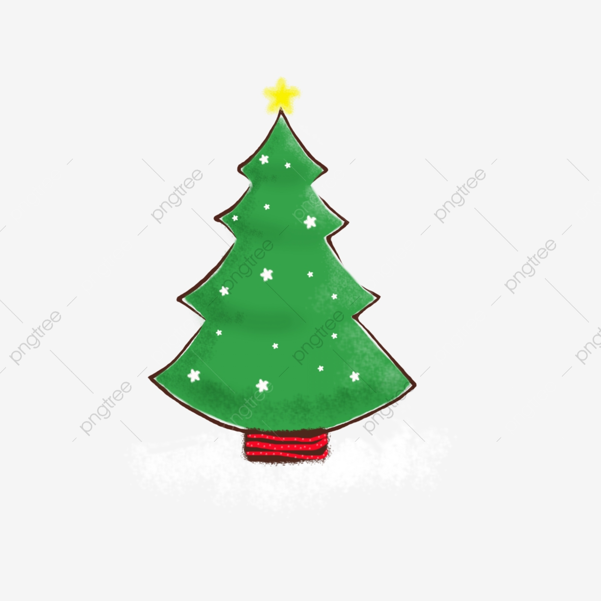 Pictures of christmas trees drawn