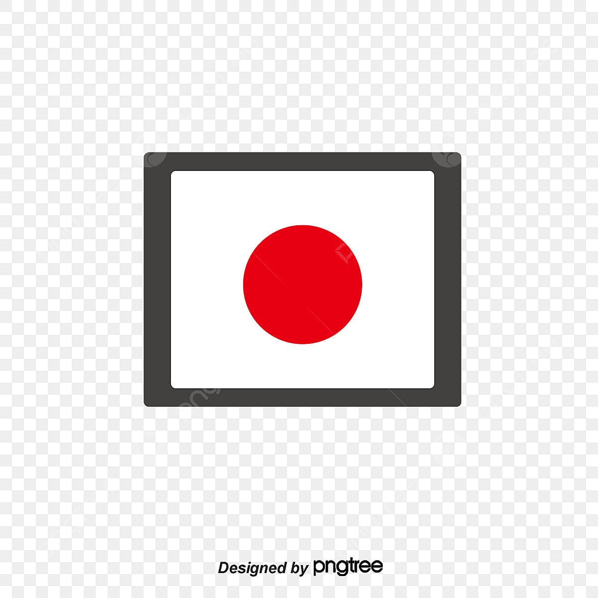 Bandera Japonesa En Estilo Rojo Y Blanco Simple Bandera Nacional