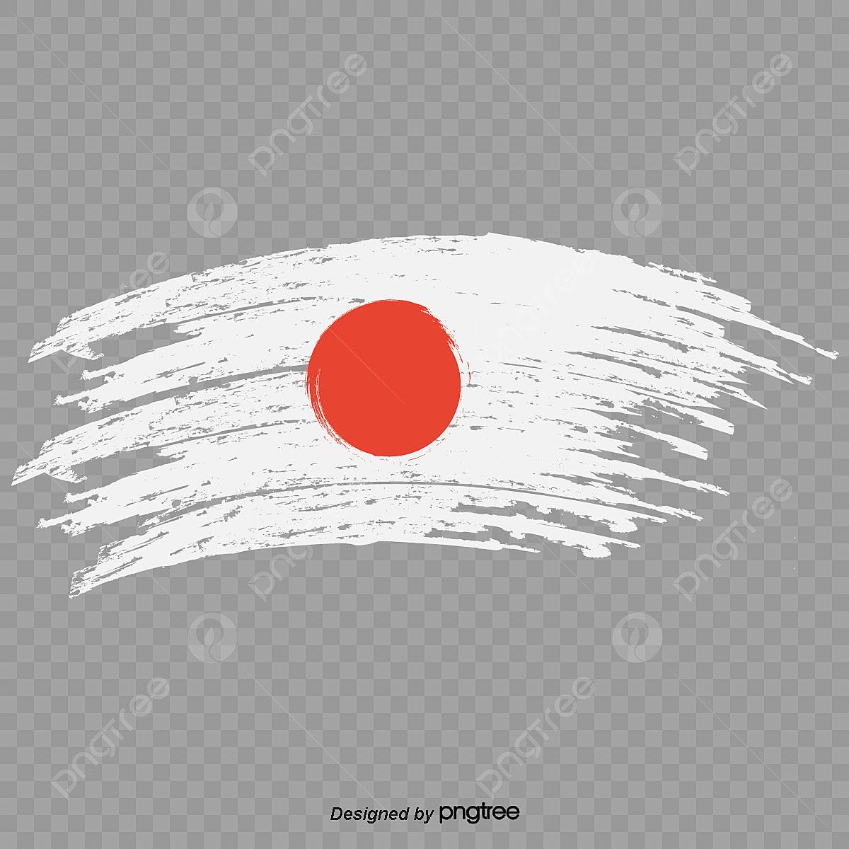Bandera Japonesa Con Arco Estilo Tinta Bandera Nacional Luz Del