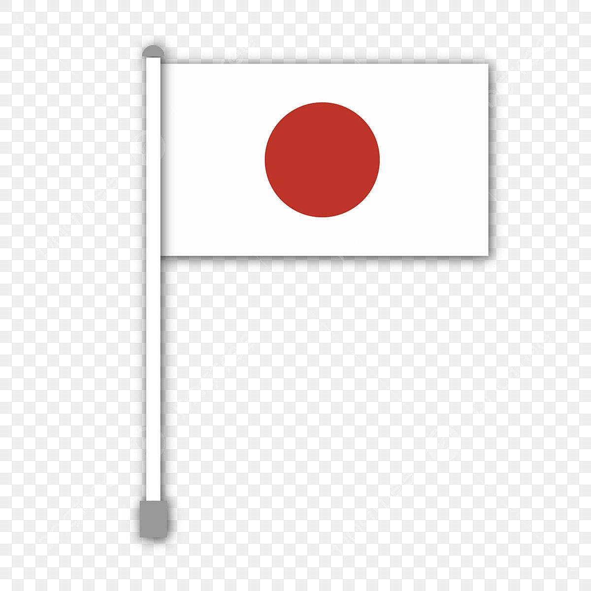 Bandera Japonesa Con Asta De Bandera Simple Bandera Nacional Luz