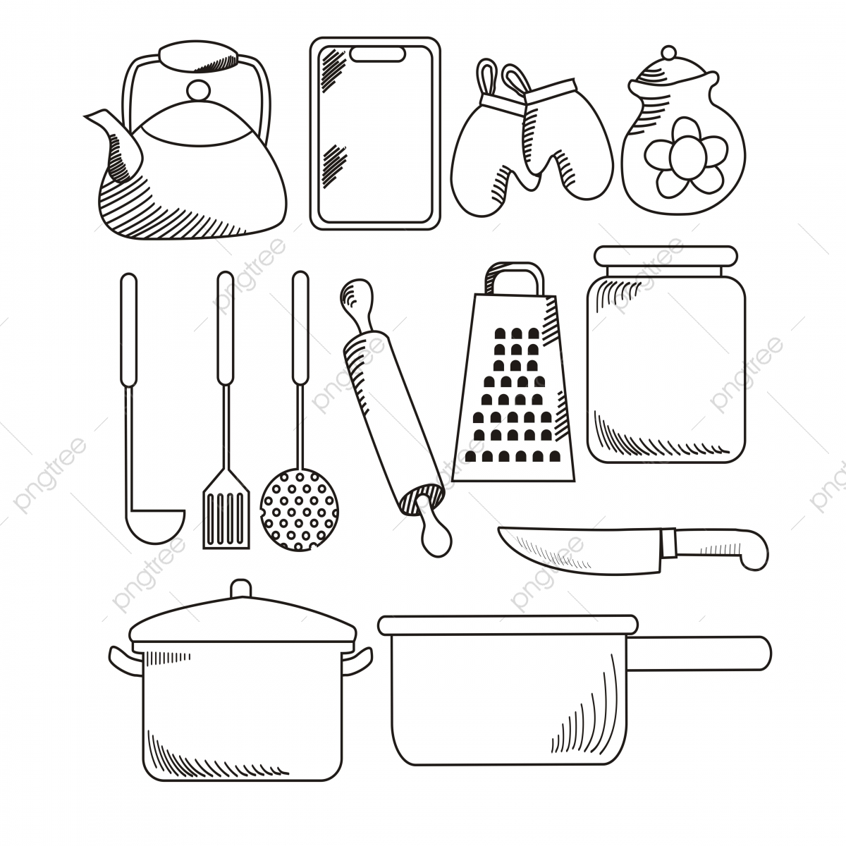 Kitchen Appliances Vector Illustration Kitchen Appliances
