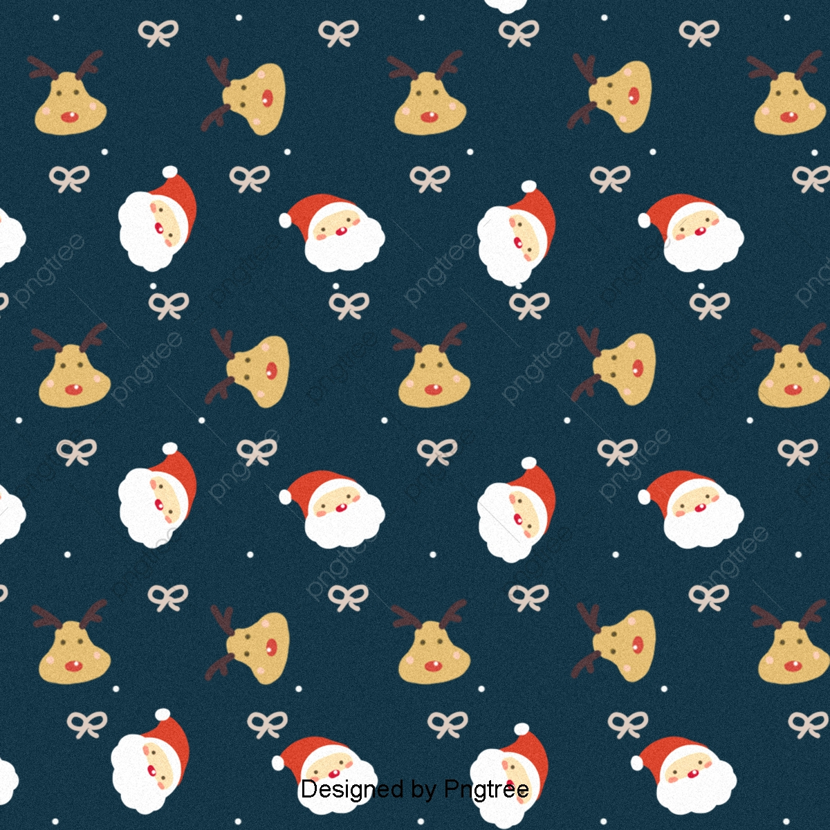 Lovely Santa Claus And Reindeer Paved Background, Background