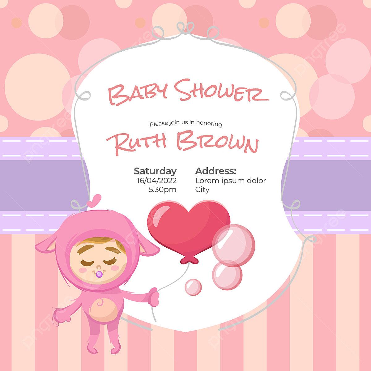 Rose Fille De Conception De Bébé Annonce Douche Bébé Bébé Png Et