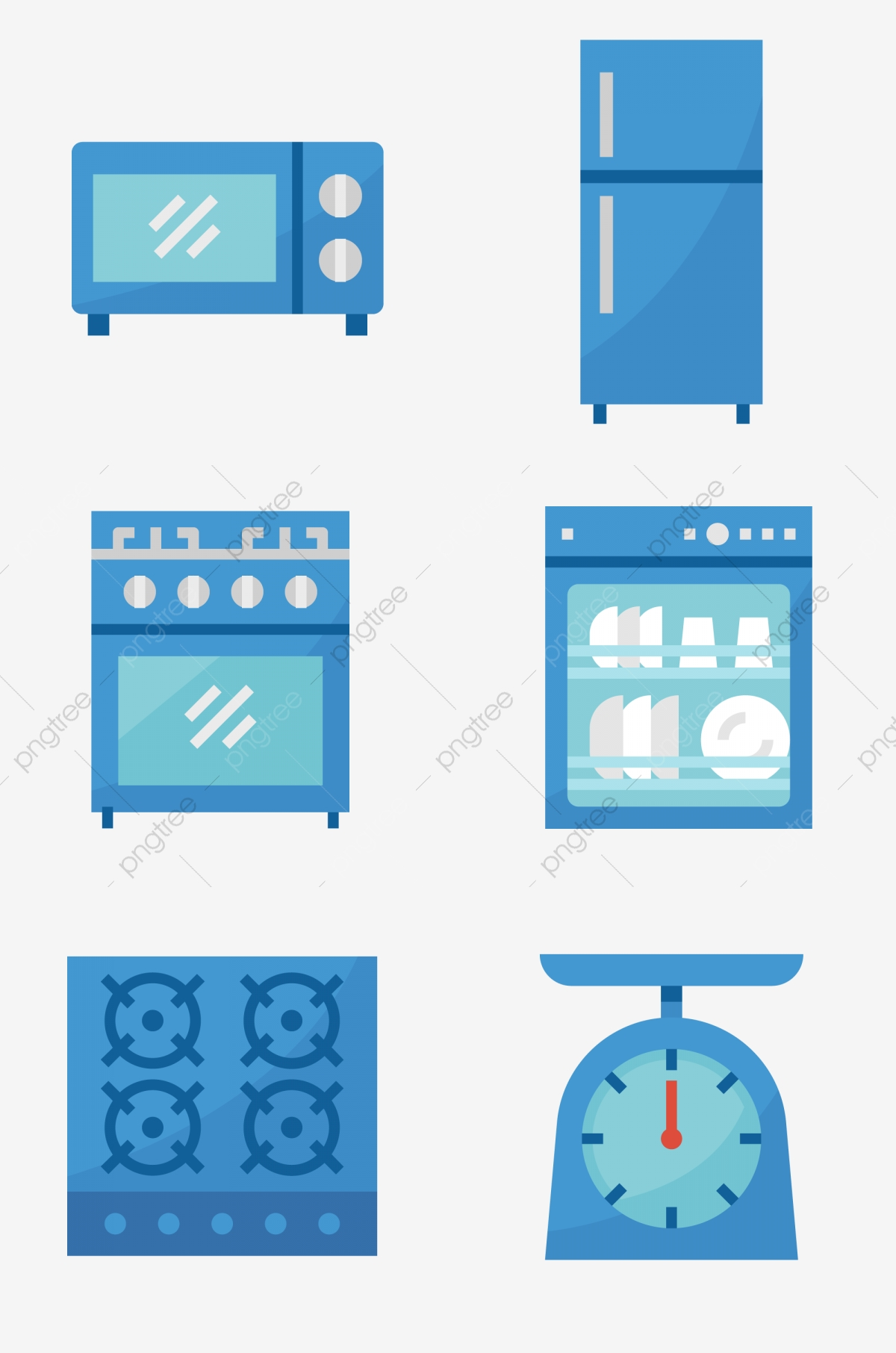 Prototype Realistic Style Kitchen Appliances Microwave Oven