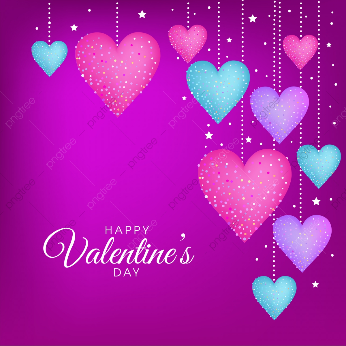 purple valentines day vector greeting card design