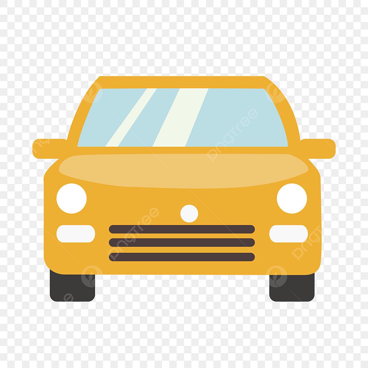 Projeto Simples Dos Desenhos Animados Do Carro Amarelo Caricatura