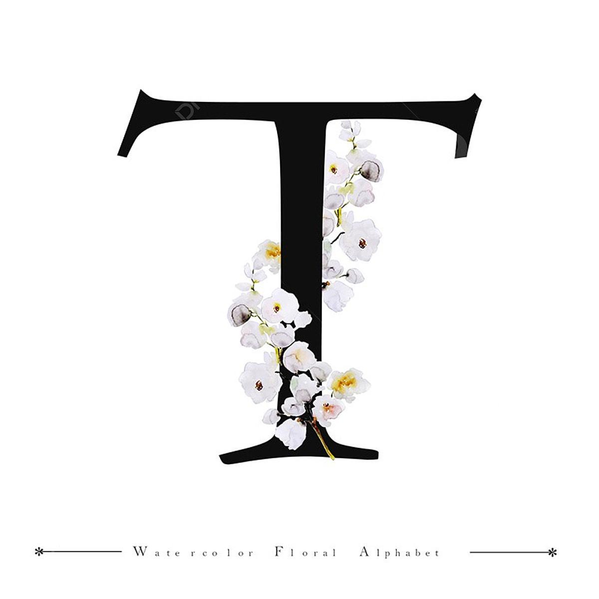 lettre de l alphabet aquarelle fond floral peinture