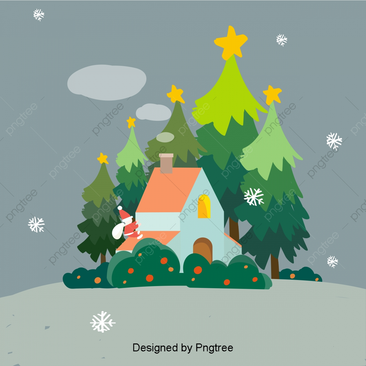 Gula Gula Warna Yang Lucu Meresap Doodle Anak Gaya Natal