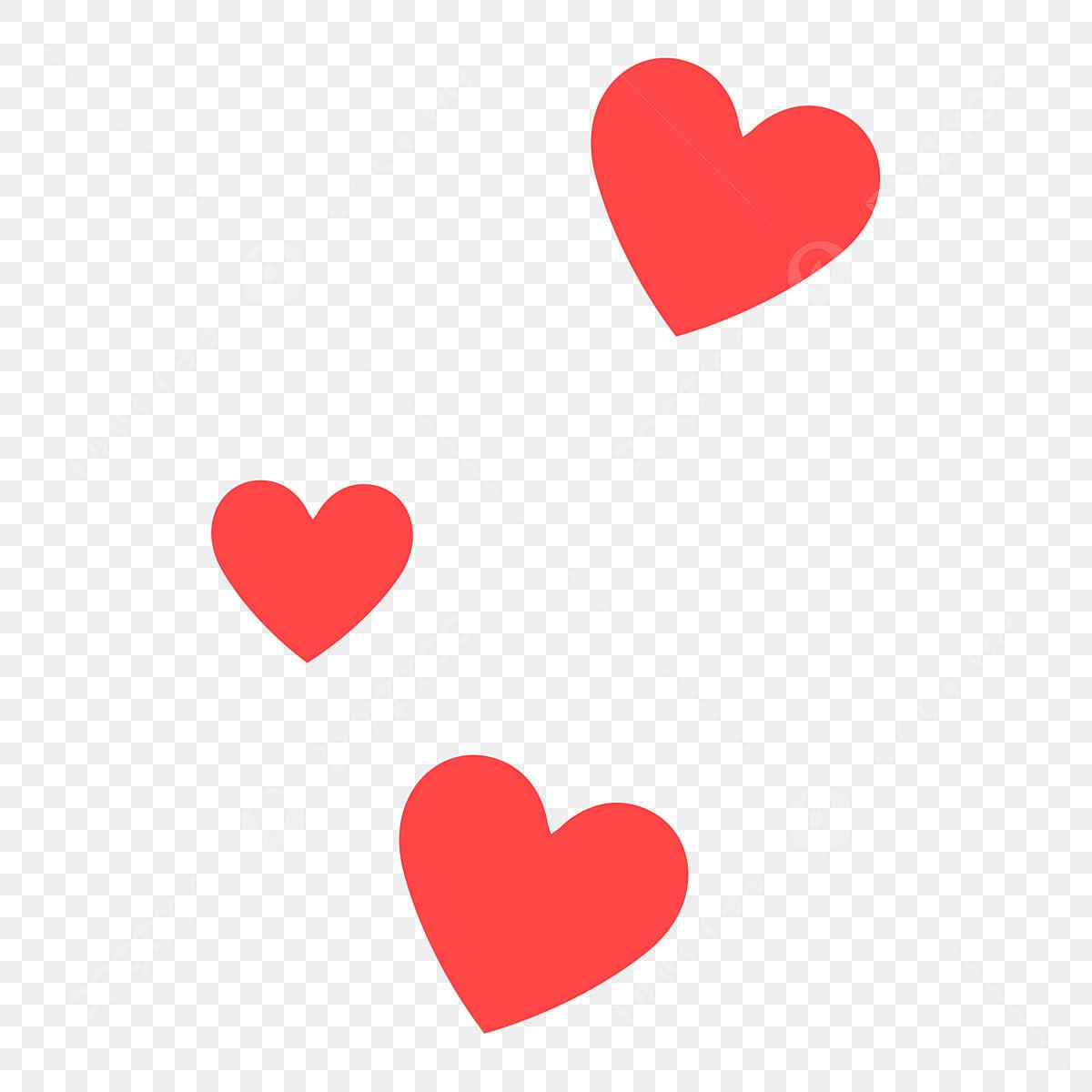 Ba Hình Trái Tim Dễ Thương Màu đỏ Hình Trái Tim Màu đỏ Dễ