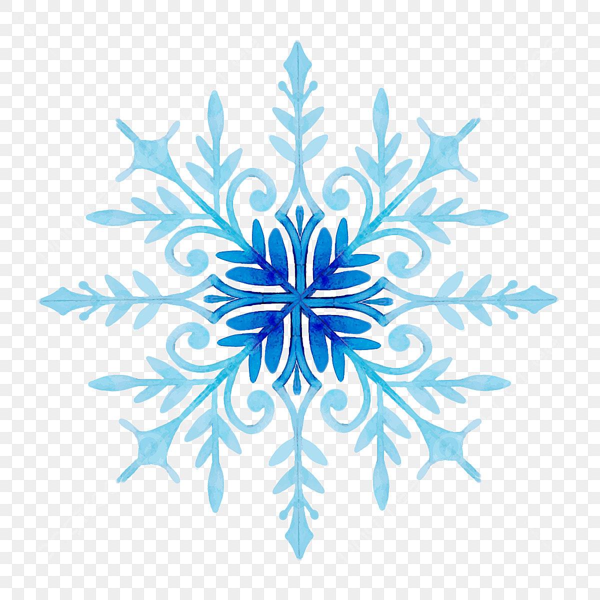 Christmas Snowflakes.Watercolor Christmas Snowflakes Watercolor Color Colorful