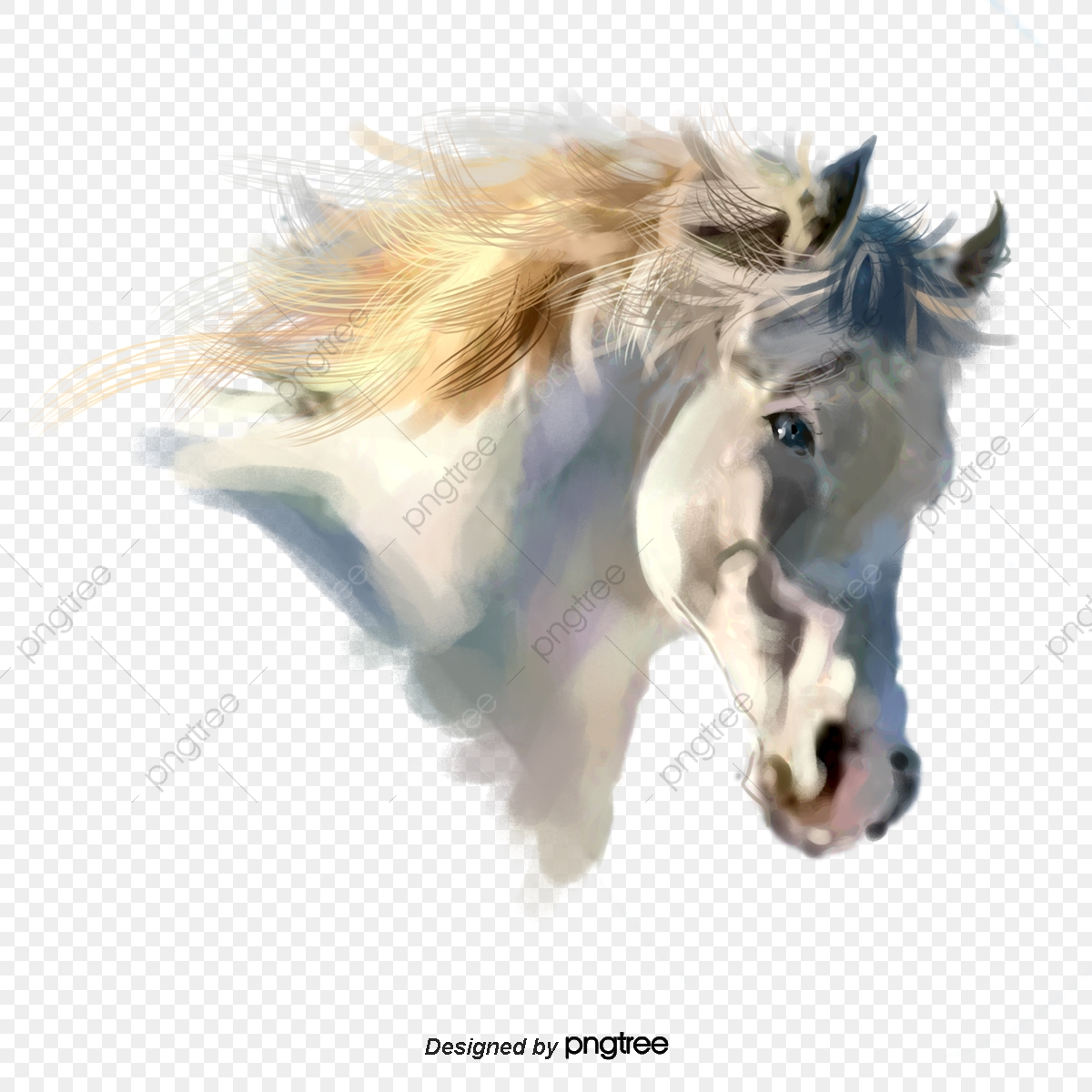 White Horse Head Elements Horse Clipart Element Running Png Transparent Clipart Image And Psd File For Free Download