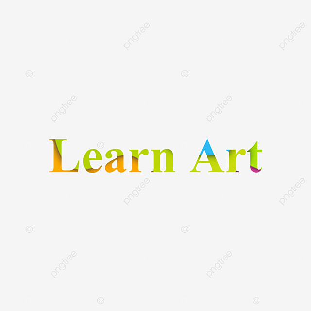 Vistoso Aprender Arte Texto Corte De Papel Frase Fuente