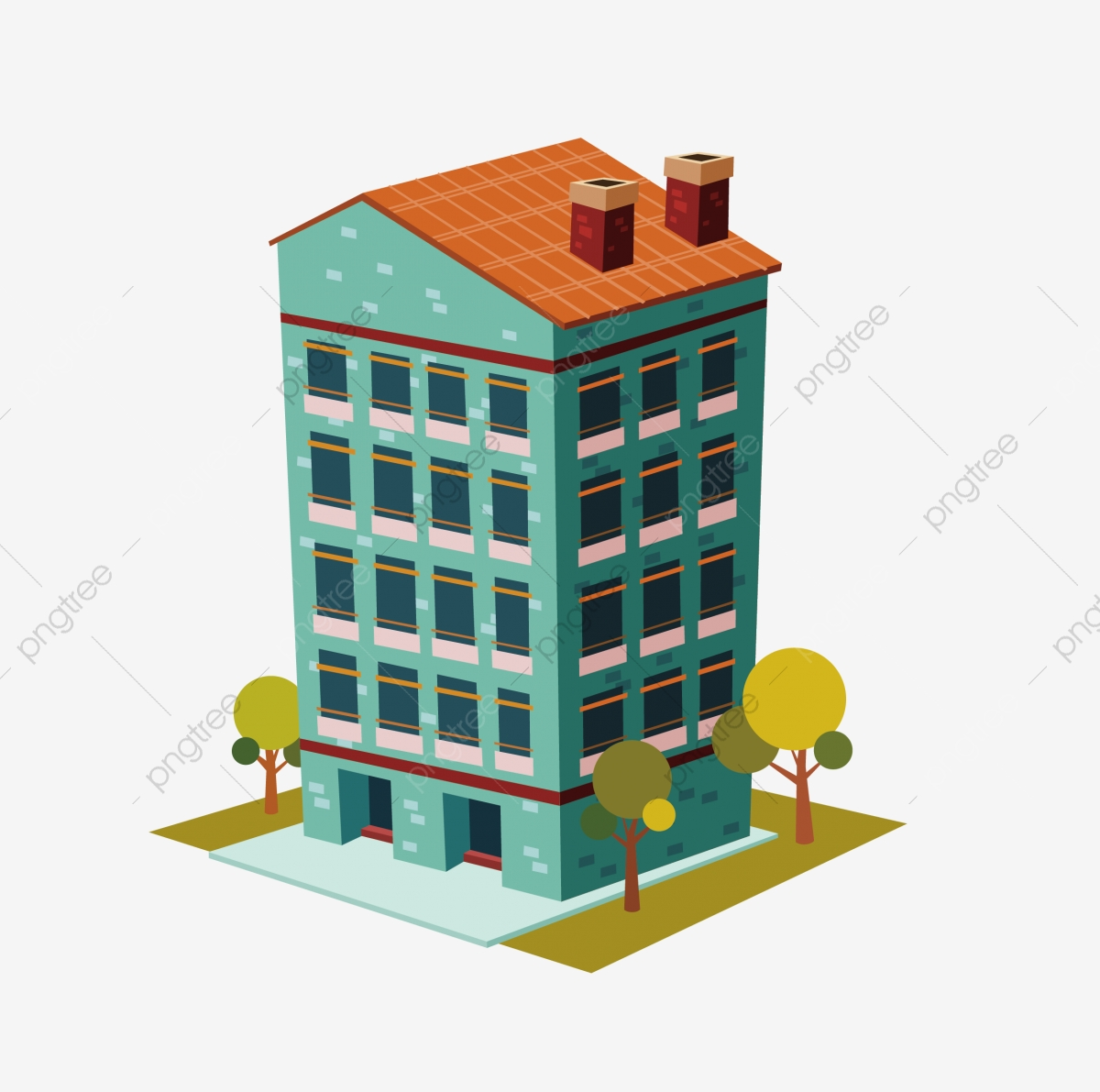 2 5d Building 2 5d Bungalow Building Bungalow, Cartoon House ...