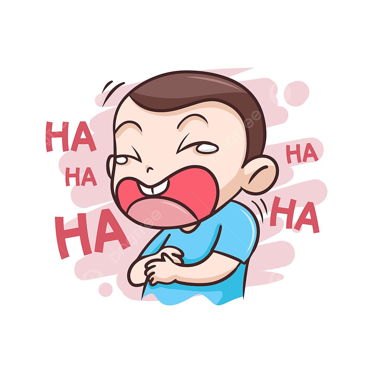 Anak Laki Laki Tertawa Sangat Gembira Ilustrasi Orang