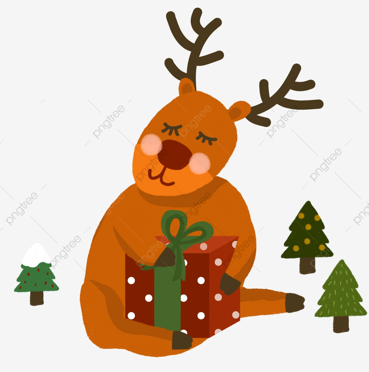 A Cute Christmas Moose Gifts And